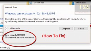 how to fix error code 0x80070035 the network path was not found windows cannot access network path