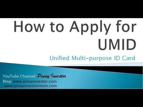 How to Apply for UMID Card