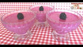 Суфле из ягод ежевики со сгущённым молоком