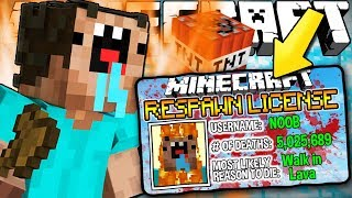 If You Needed a RESPAWN LICENSE to Respawn - Minecraft