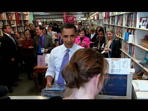 Raw Video: President Obama in Iowa Bookstore