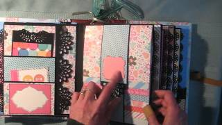 Waterfall Scrapbook Mini Album (Tutorial available)