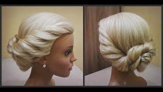 красивая прическа в греческом стиле.удобно делать самой себе.Beautiful hairstyle in Greek style