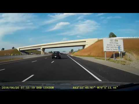 Dashcam view - HWY 407, Harmony Rd to Brock St. includes HWY 412