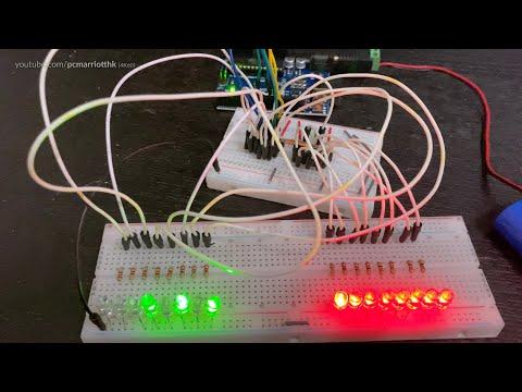 Demonstration: 2 X 74HC595 Shift Register W/Arduino: Parallel Shift-Out W/Dual-Defined Arrays [4K60]
