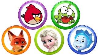 Киндер Сюрпризы для детей Игрушки из мультиков Ам Ням Фиксики Энгри Бердс Сups Stacking Toys