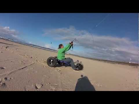Traction kiting with Buster soulfly kite, peter lynn buggy and new Gopro Hero 3