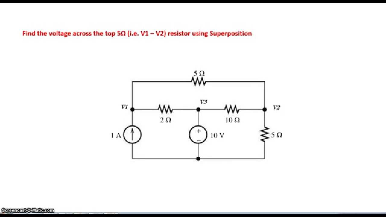 Circuit Analysis Using Superposition Principle Youtube Fig 9 An Electric With A Switch