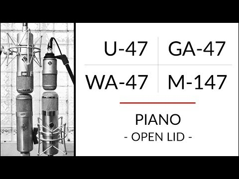 PIANO Neumann U-47 vs M-147 vs Golden Age Premier GA-47 vs Warm Audio WA-47 microphone shootout!