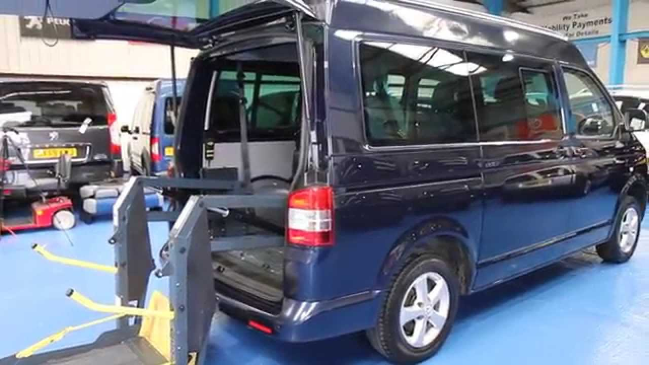Volkswagen Transporter Wheelchair Ride Upfront Next To Driver Van