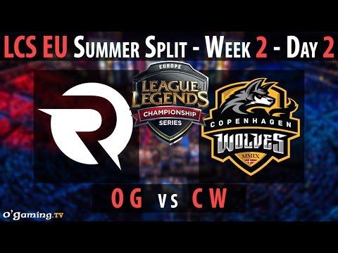 Origen vs Copenhagen Wolves - LCS EU 2015 - Summer Split - Week 2 - Day 2 - OG vs CW [FR]