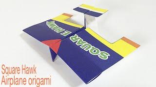 SQUARE HAWK TUTORIAL | EASY AIRPLANE ORIGAMI