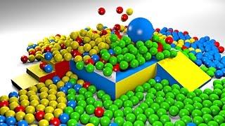 Piłki w basenie - 1000 piłek w basenie dla dzieci - Nauka kolorów dla dzieci | CzyWieszJak
