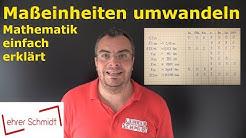 Maßeinheiten umrechnen (km, m, dm, cm, mm  | Mathematik | Lehrerschmidt - einfach erklärt!