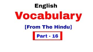 English Vocabulary for Bank po and SSC CGL | In Hindi Part 16