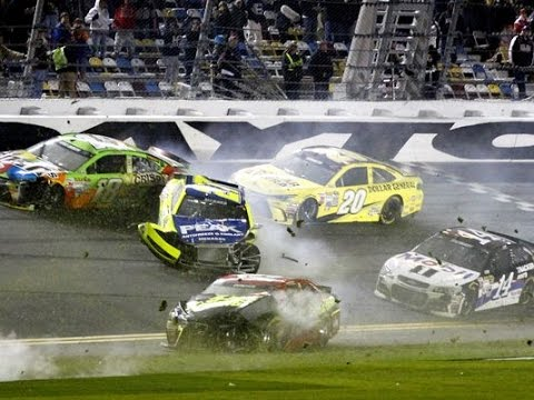 Nascar Sprint Cup 2015 All Crashes Compilation