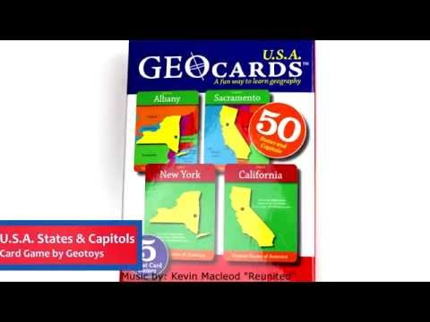 U.S.A. States & Capitols Card Game by Geotoys GEO117