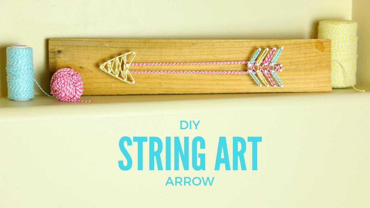 DIY Arrow String Art - YouTube