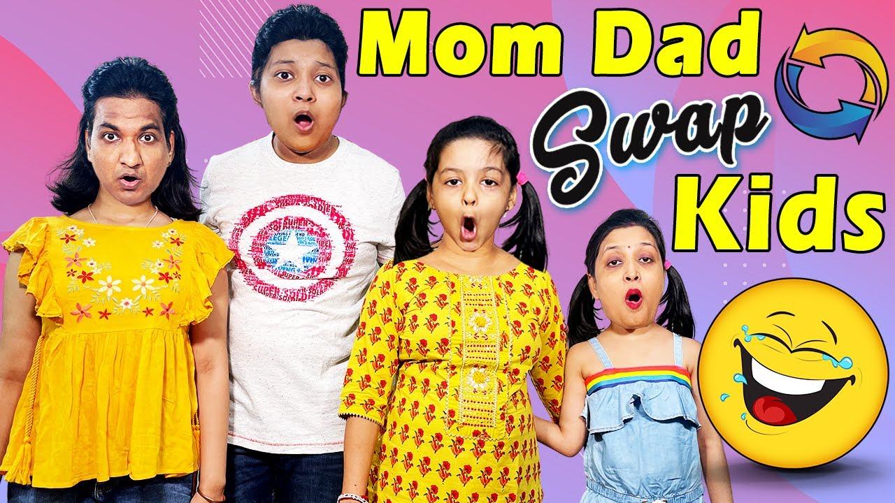 Switching Lives Mom Dad vs Kids 😂 माँ-बाप और बेटी की अदला बदली 🤦♀️🤣 | Cute Sisters