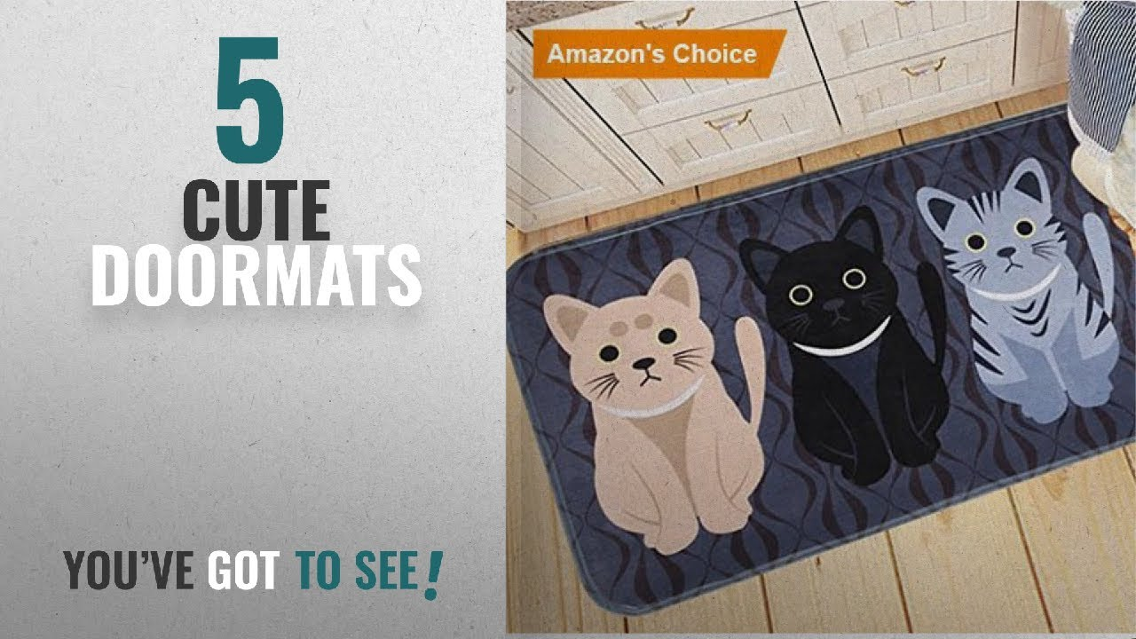 Top 10 Cute Doormats [2018 ]: Elohas Go Away Rubber Deep Blue ...