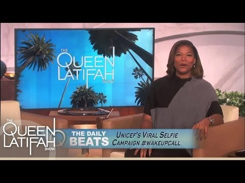 Daily Beats: #WakeUpCall Selfie for UNICEF | The Queen Latifah Show