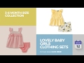 Lovely Baby Girls Clothing Sets 3-6 Month Size Collection