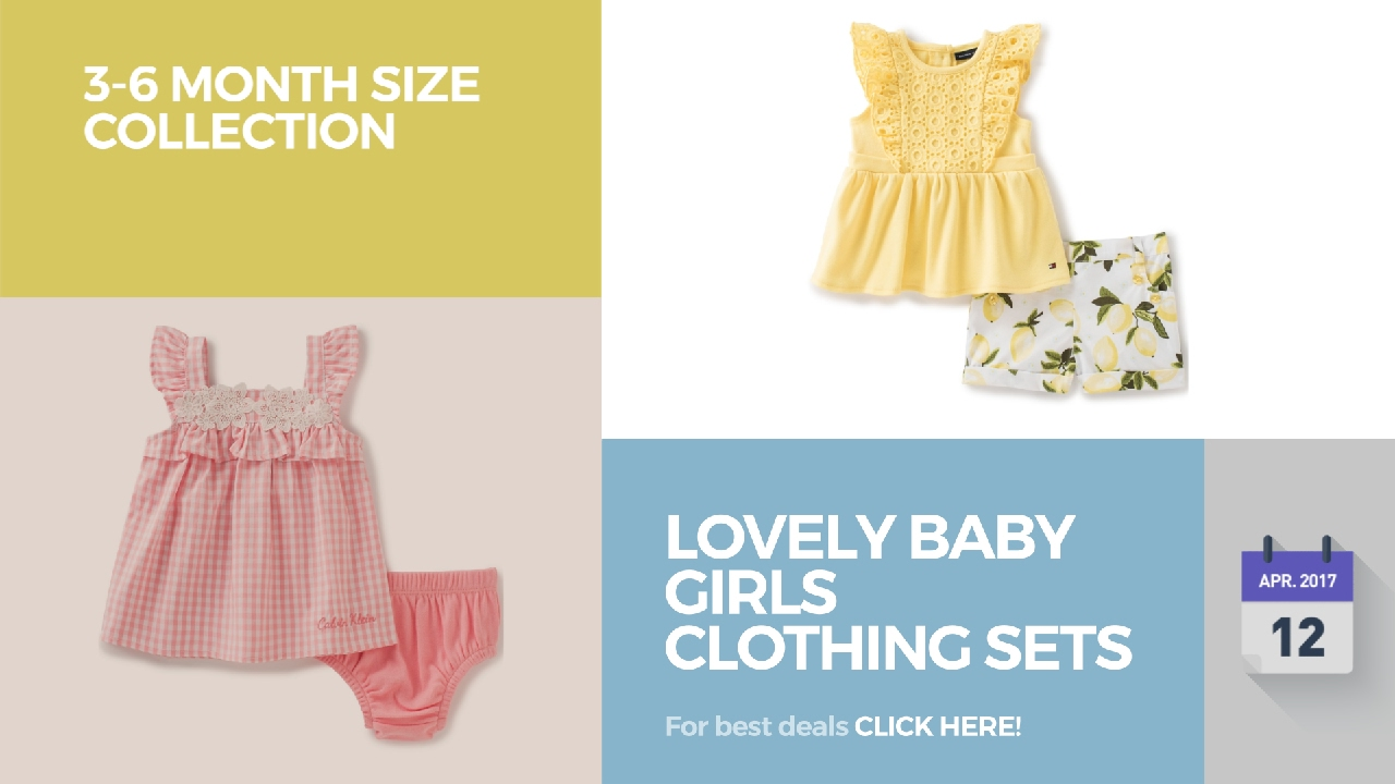6c5276374 Lovely Baby Girls Clothing Sets 3-6 Month Size Collection - YouTube