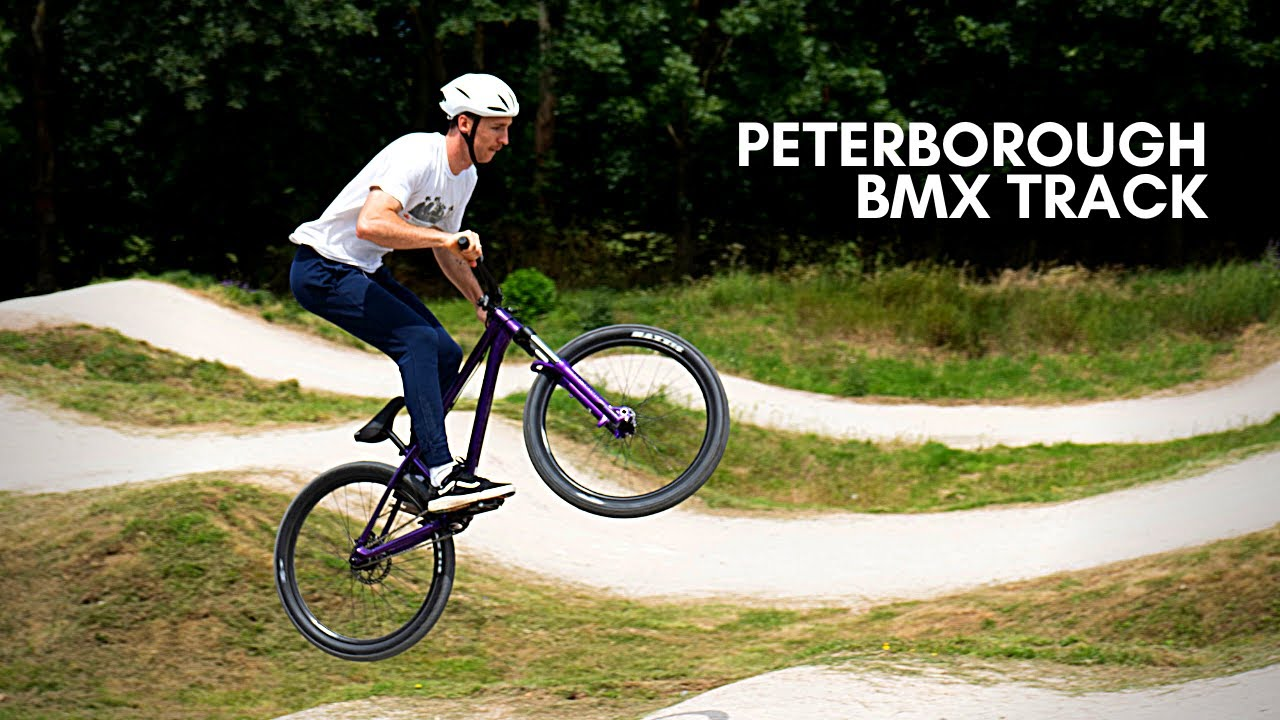 First time at the BMX track on the Canyon Stiched 360 jump bike!