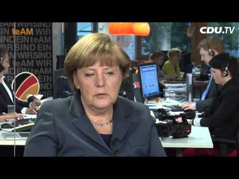 Tele-Townhall: Angela Merkel im Dialog