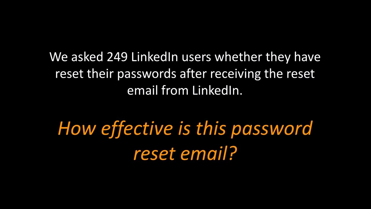 I'm too Busy to Reset my LinkedIn Password