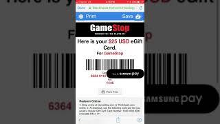 Free 25 gift card GAMESTOP