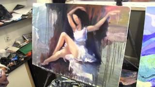 Женская фигура маслом, научиться рисовать, графика, масло, живопись, Сахаров