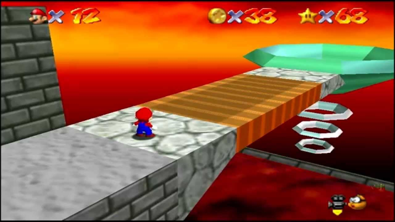 Super Mario 64 (N64) Bowser in the Fire Sea - YouTube