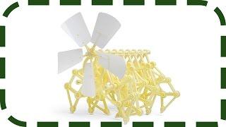 Модель Strandbeest - шагающая кинетическая скульптура Тео Янсена