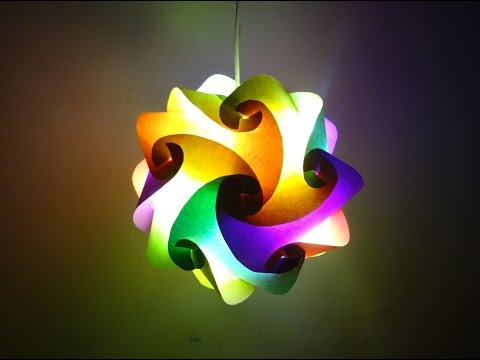 Paper Crafts (Diwali Decoration Ideas):Beautiful Multicoloured Lantern : Christmas Decor