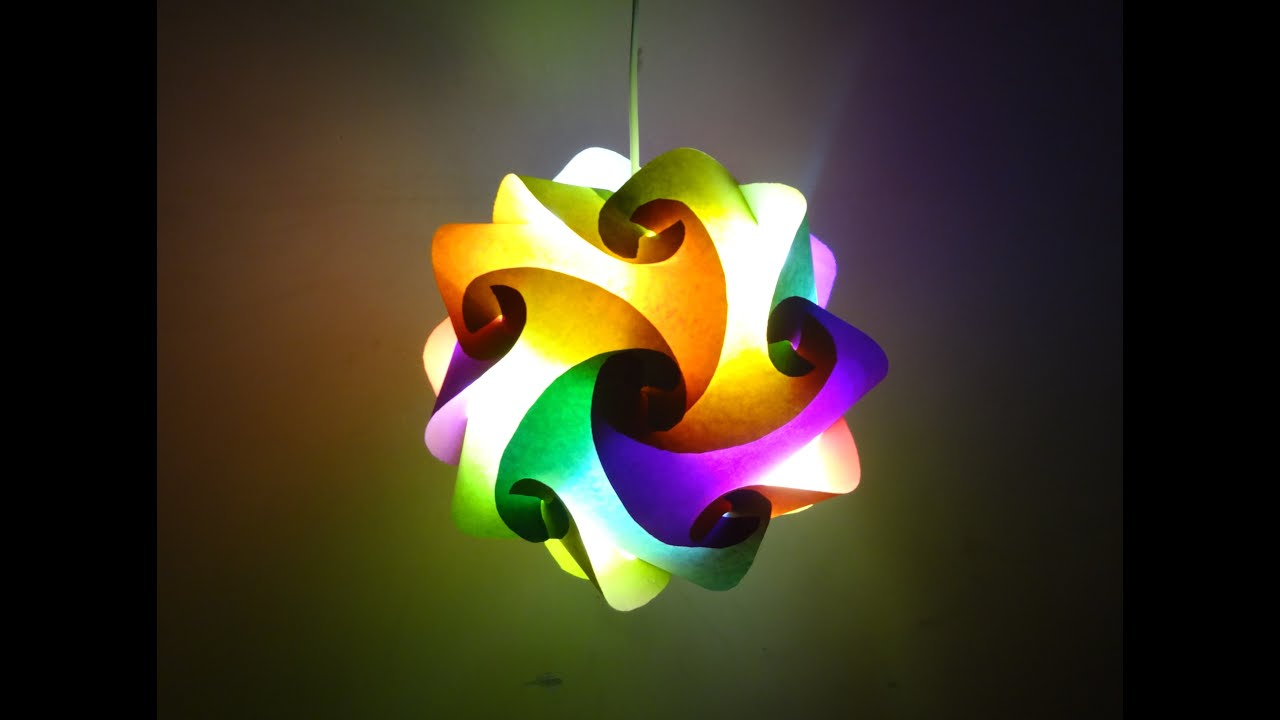 Paper Crafts Diwali Decoration IdeasBeautiful Multicoloured Lantern Christmas Decor