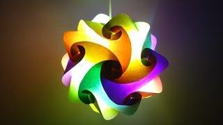 Paper Crafts (Home Decoration Ideas):Beautiful Multicoloured Lantern : Christmas Decor