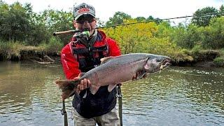 Ловля крупного лосося на спиннинг. Андрей Питерцов