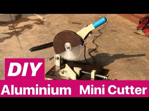 how to make small Aluminium - wood cutter machine at Home