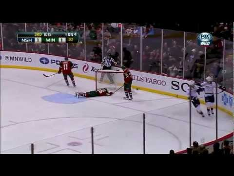 Martin Erat Scores after a mistake by Backstrom. Jan 22nd 2013