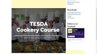 TESDA Cookery Course 2019