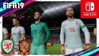 FIFA 19 (Nintendo Switch) Amistoso Internacional - GALES vs ESPAÑA