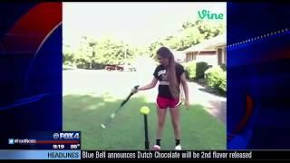 Cedar Hill softball player has amazing bat trick