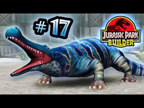 Jurassic Park Builder: GLACIER Tournament: Part 17 Deinosuchus the Little Ripper! HD