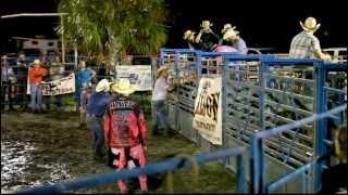 Kaitlyn -Female bullrider-stomped