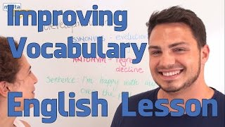 Improving Vocabulary - English lesson (Upper Intermediate)