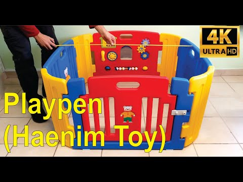 Review And Installation Of The Haenim Plastic Playpen For Kids.