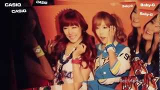WINK! GIRLS' GENERATION SNSD Baby-G Casio WATCHES Behind The Scenes