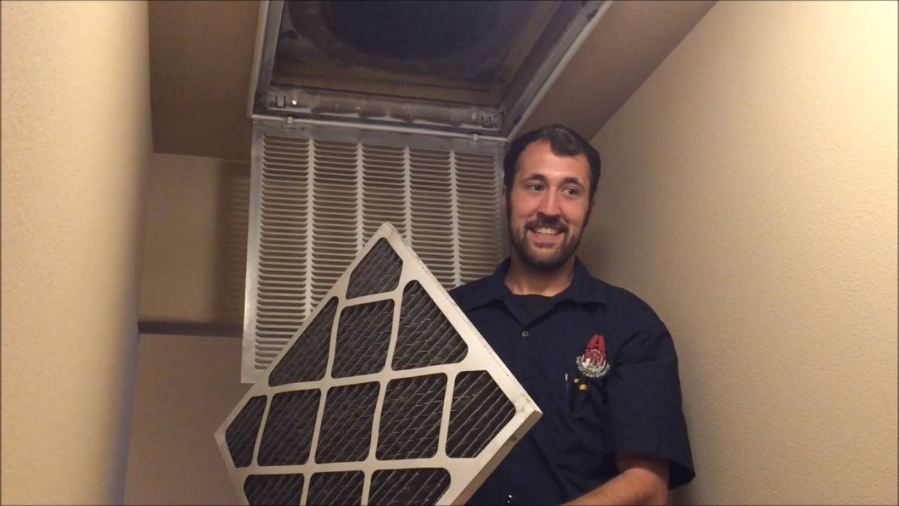 Dirty, clogged furnace filters