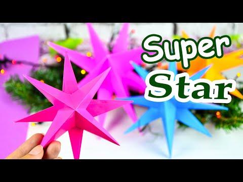 8 конечная ЗВЕЗДА из БУМАГИ   Объемная Звезда своими руками 💖 Лакси